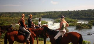 Horse riding in Jinja