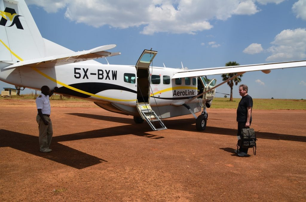Main gates and airstrips of Murchison falls national park